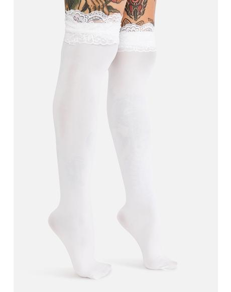 Ivory Delicate Feelings Knee High Socks