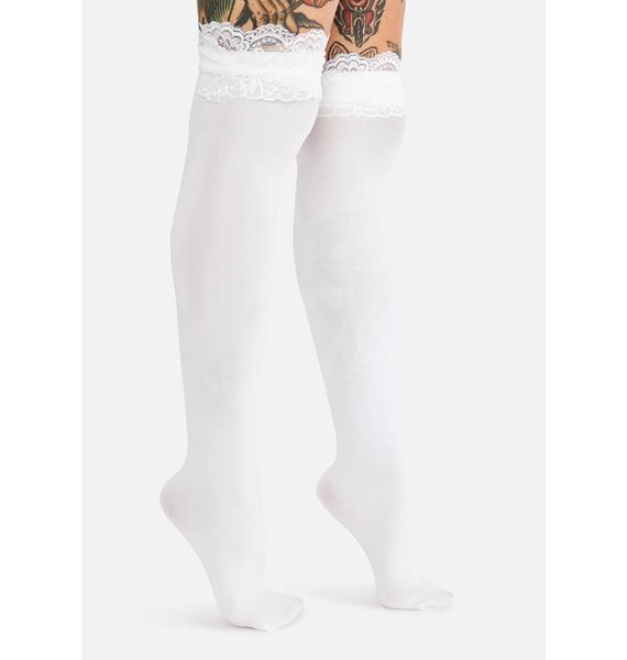 Ivory Delicate Feelings Knee High Socks