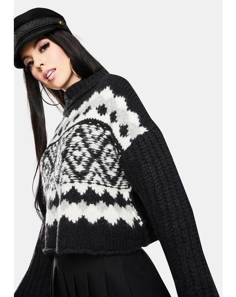 Onyx Alpine Pullover Sweater