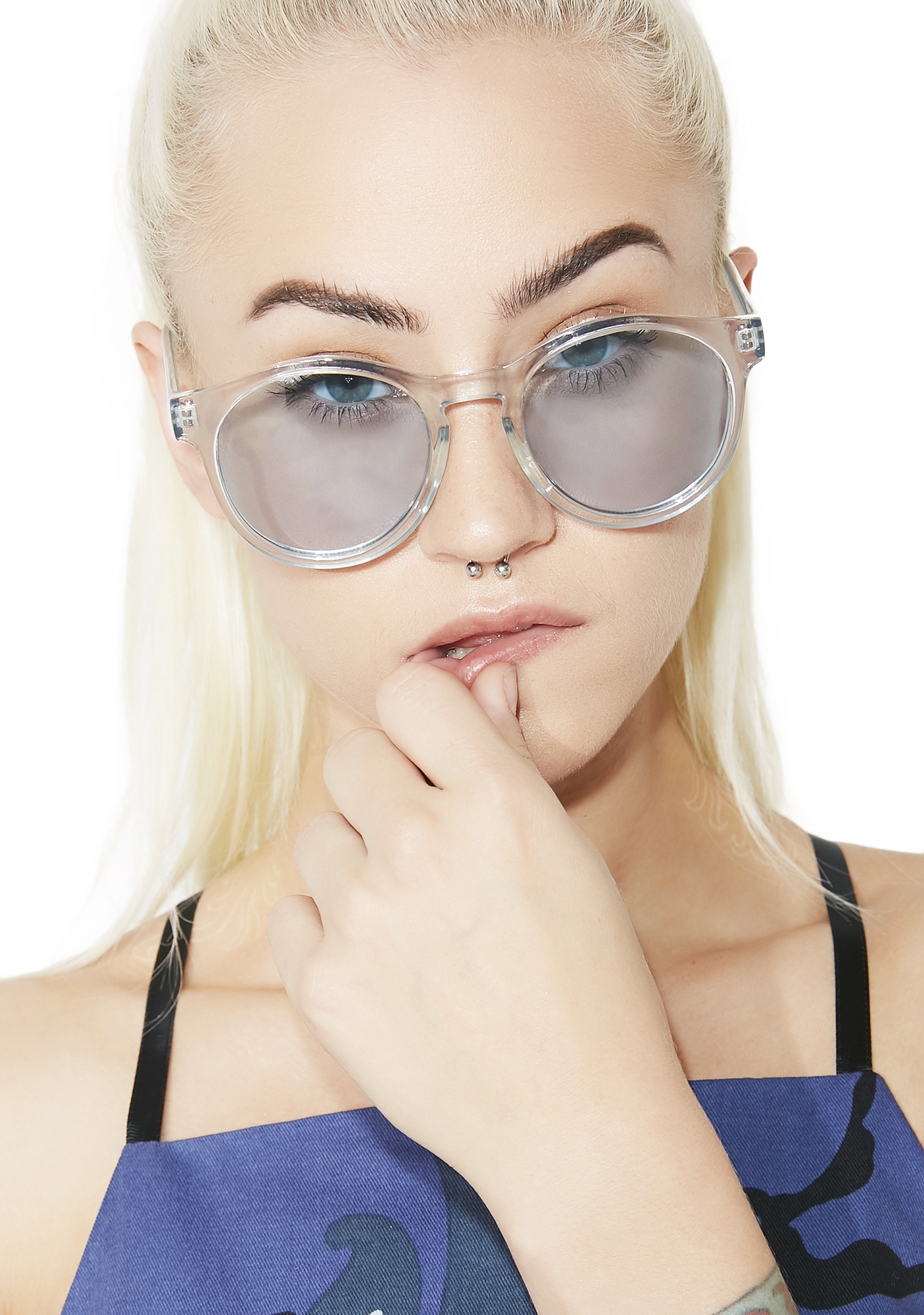 Clear Baby Blue Sunglasses
