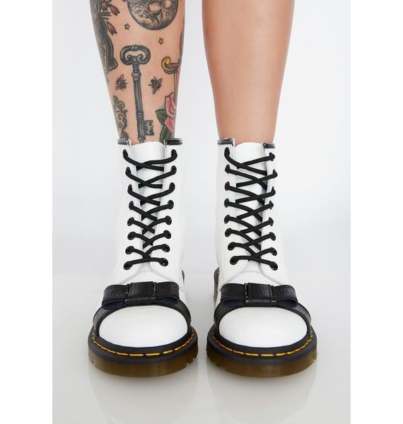 Dr. Martens Blanc 1460 Crackle Boots