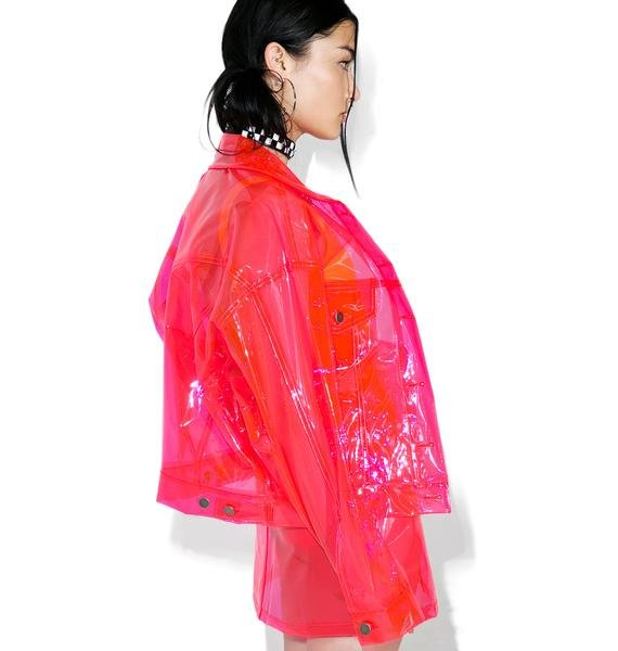 Brashy Crystalline Pink Transparent Jacket