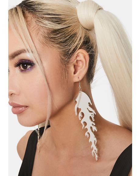 Chrome Mad Blazed Drop Earrings