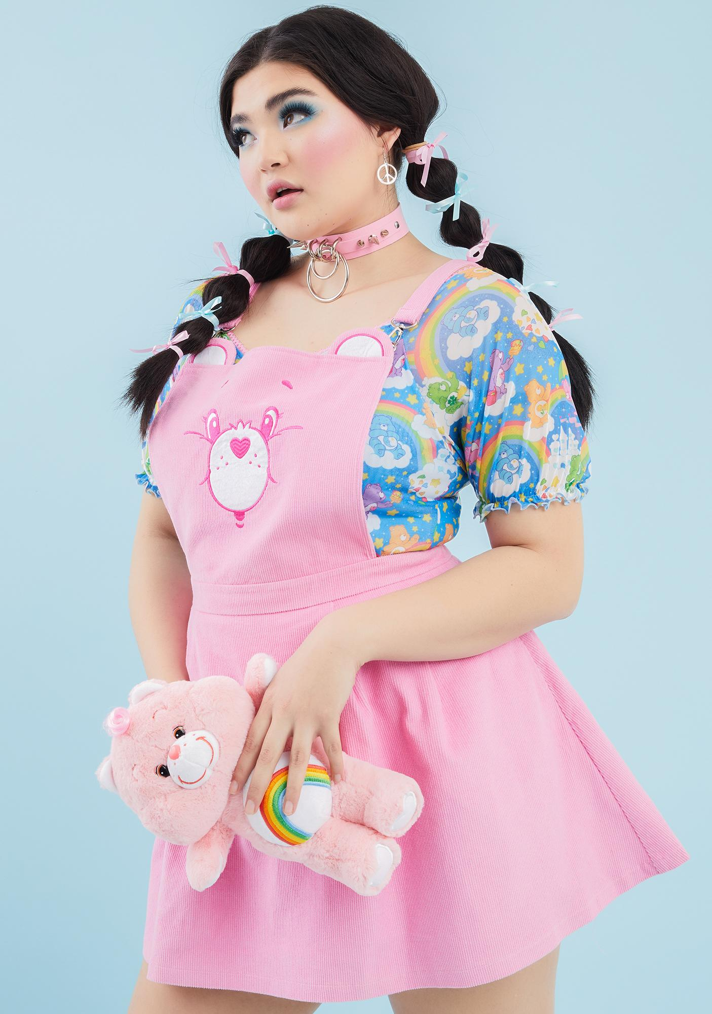 Dolls Kill x Care Bears Baby Always Care-A-Lot Pinafore Dress