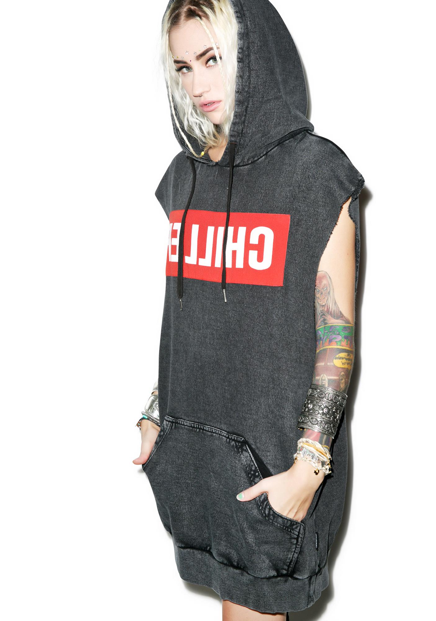Chiller Sleeveless Hooded Sweater