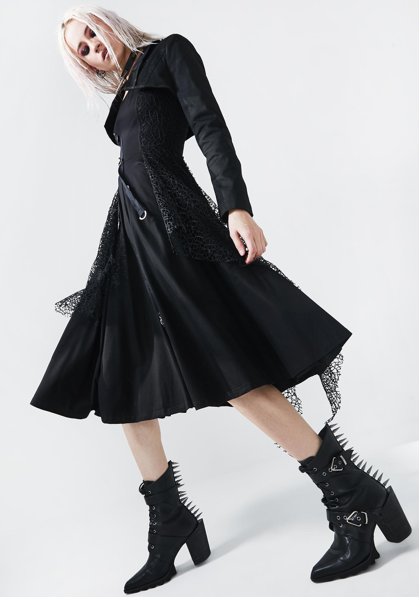 Punk Rave Punk Rebellion Midi Dress