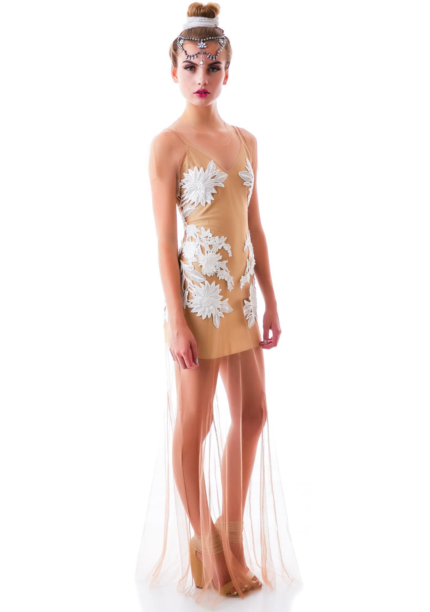 For Love & Lemons Balmy Nights Maxi Dress
