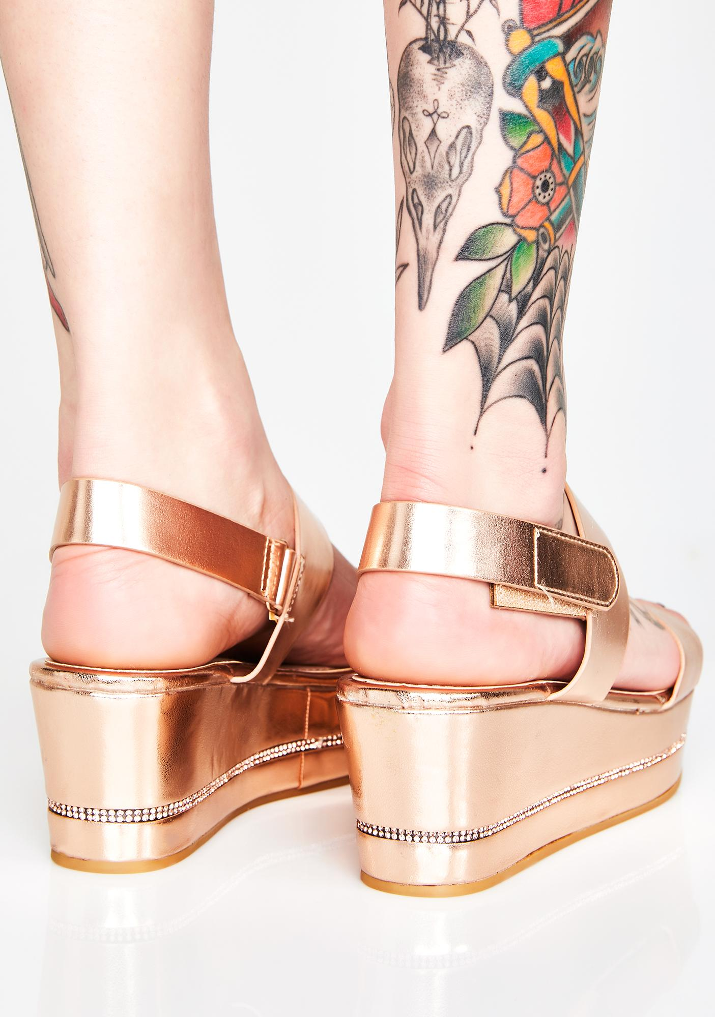 Dont Even Try Platform Sandals