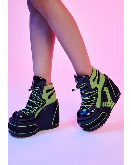 Hijacked Chunky Platform Sneakers