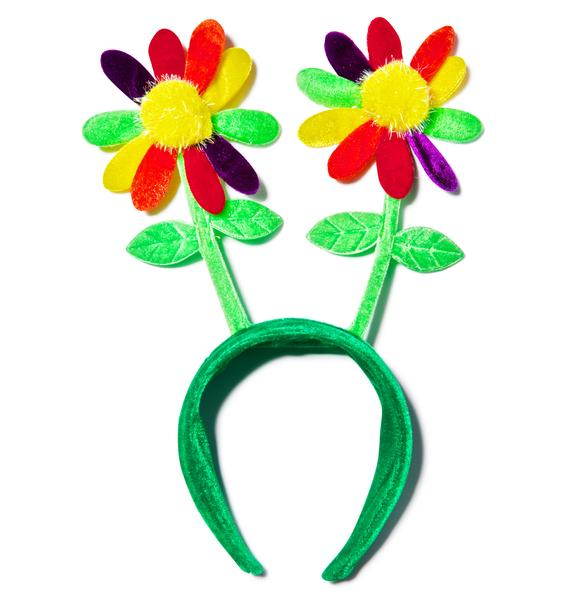Rainbow Daisy Head Bopper