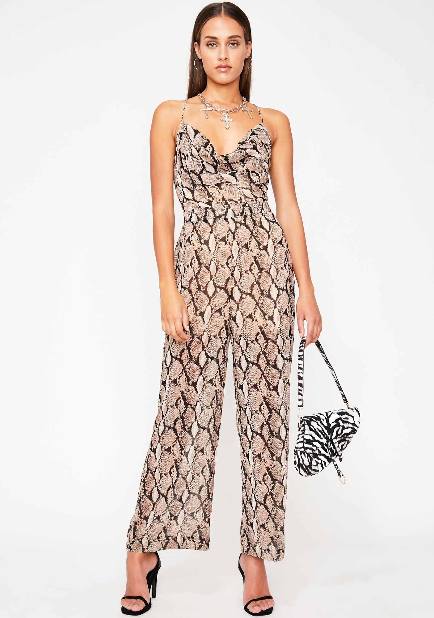 Haute Poison Wide Leg Jumpsuit