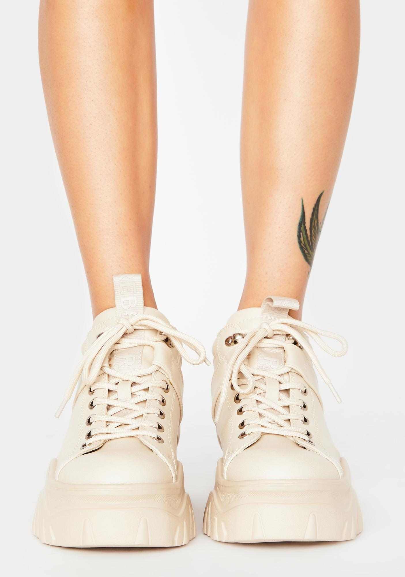 Rebels Off White Fay Platform Sneakers