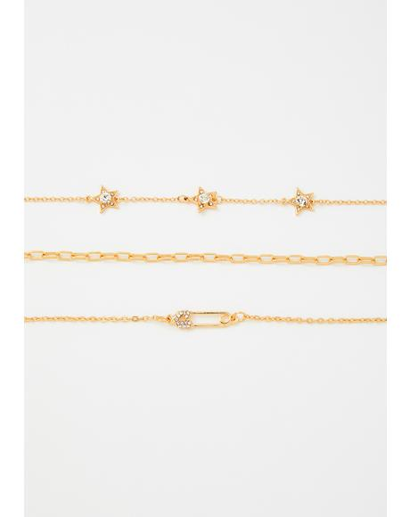Star Danger Layered Choker