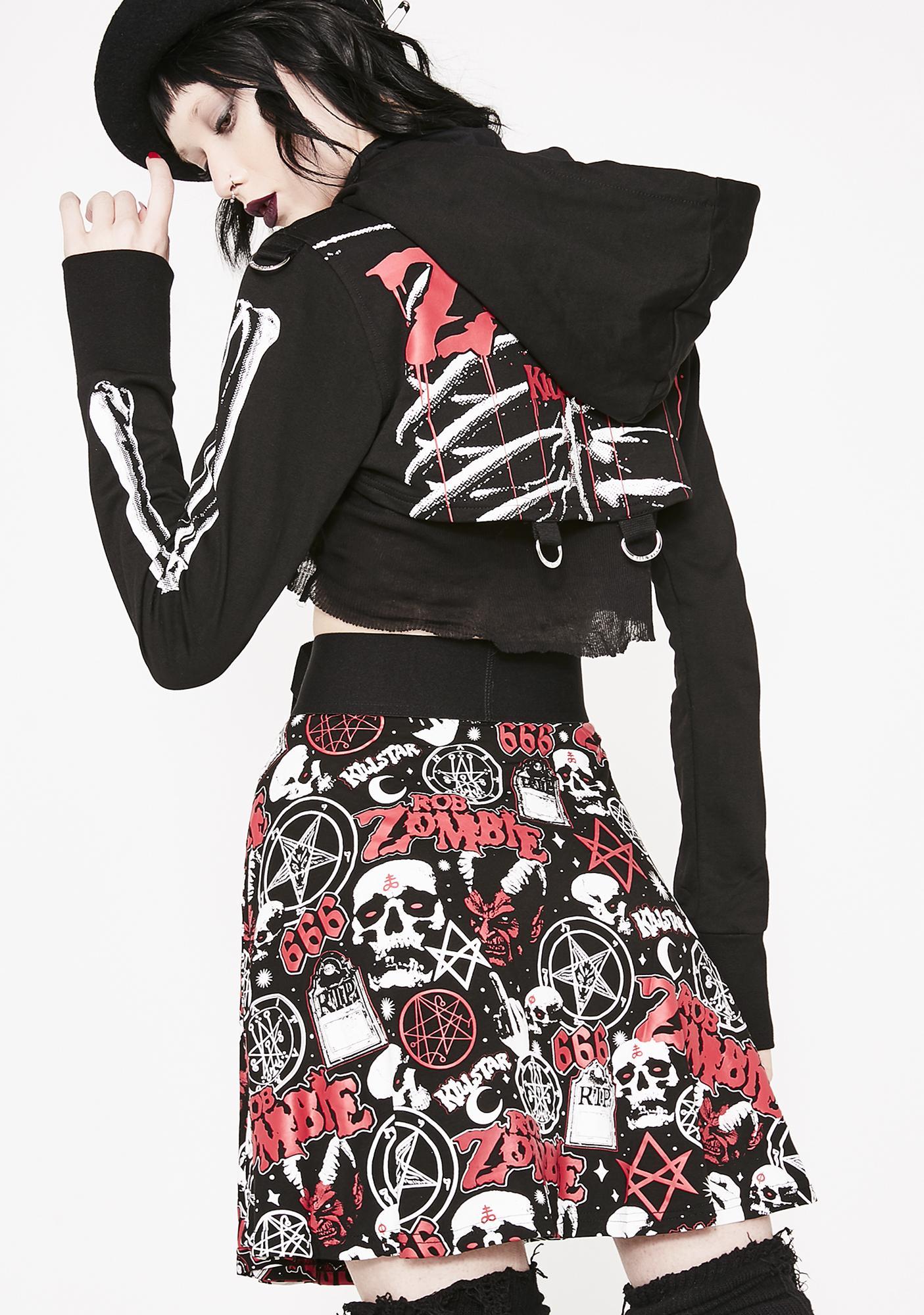 Killstar Baby Death Skater Skirt
