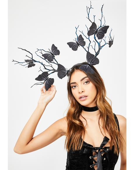 Dark Eden's Veins Butterfly Headband