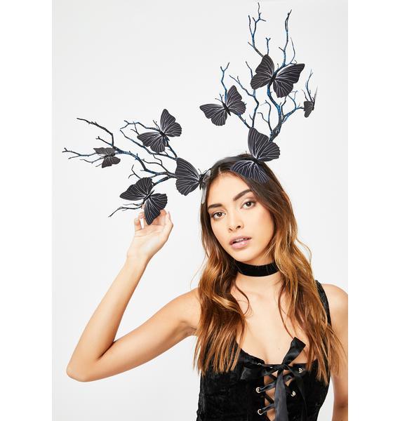 Dark Eden's Veins Butterfly Headband