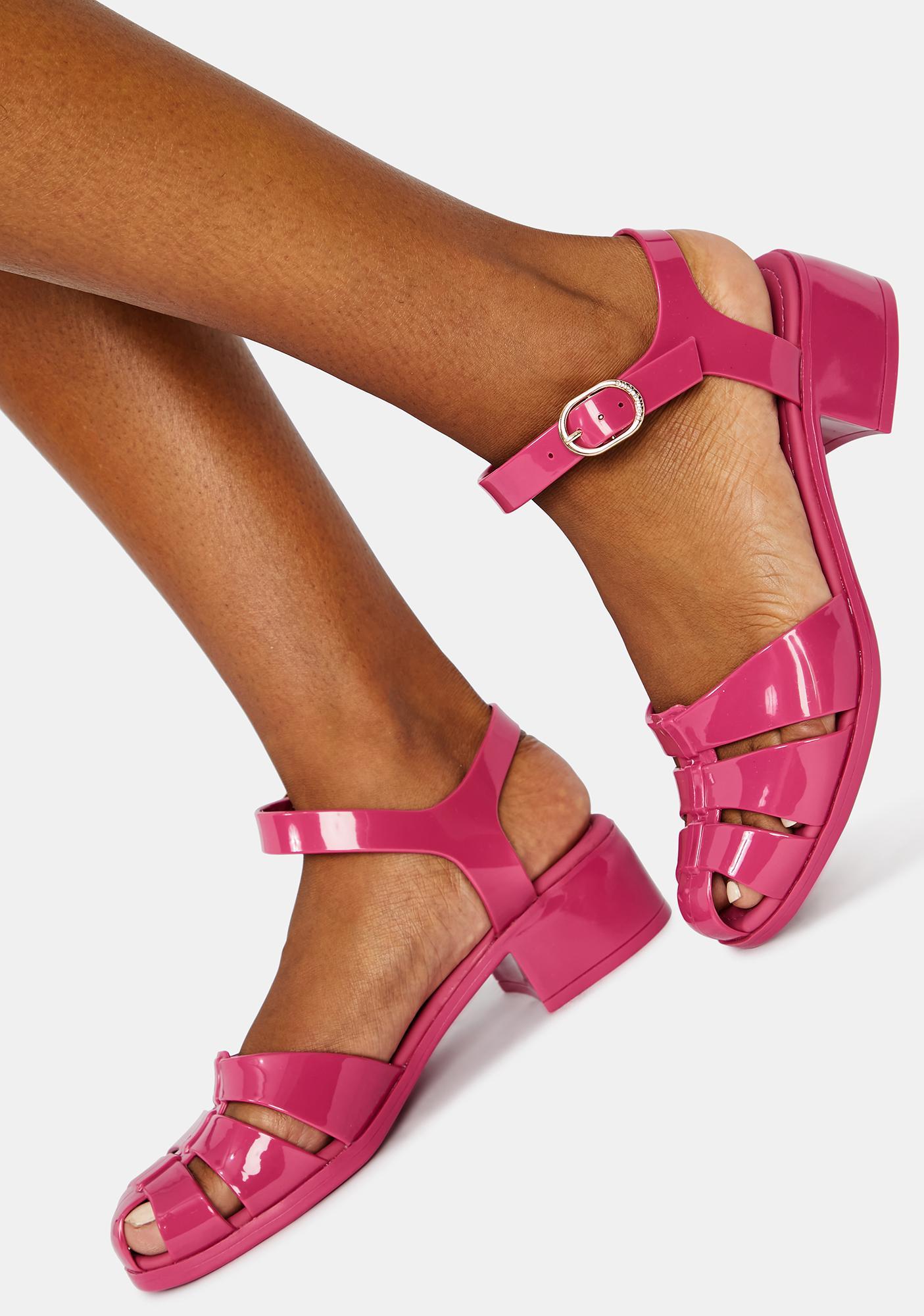 petite jolie pink bremerton jelly sandals dolls kill pink bremerton jelly sandals