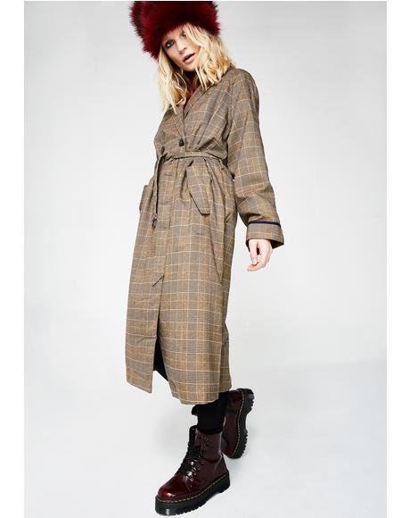 Gettin' Schooled Trench Coat