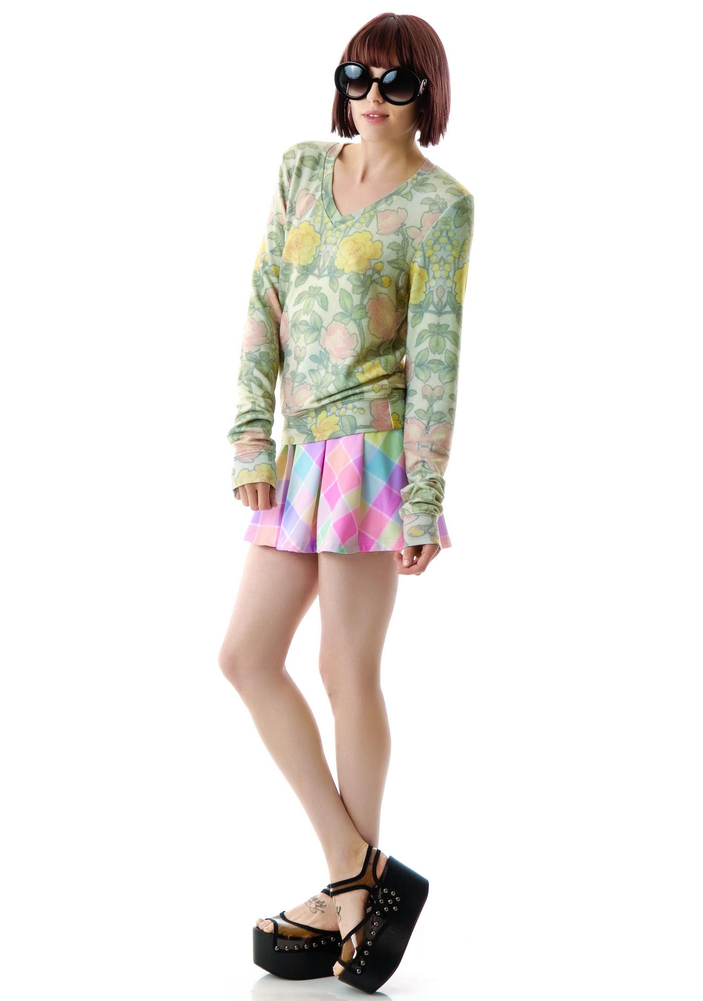 Wildfox Couture Wall Flower V Neck