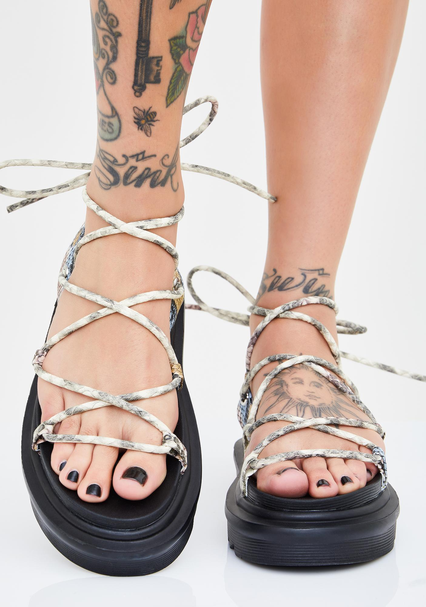 Fight For It Gladiator Sandals