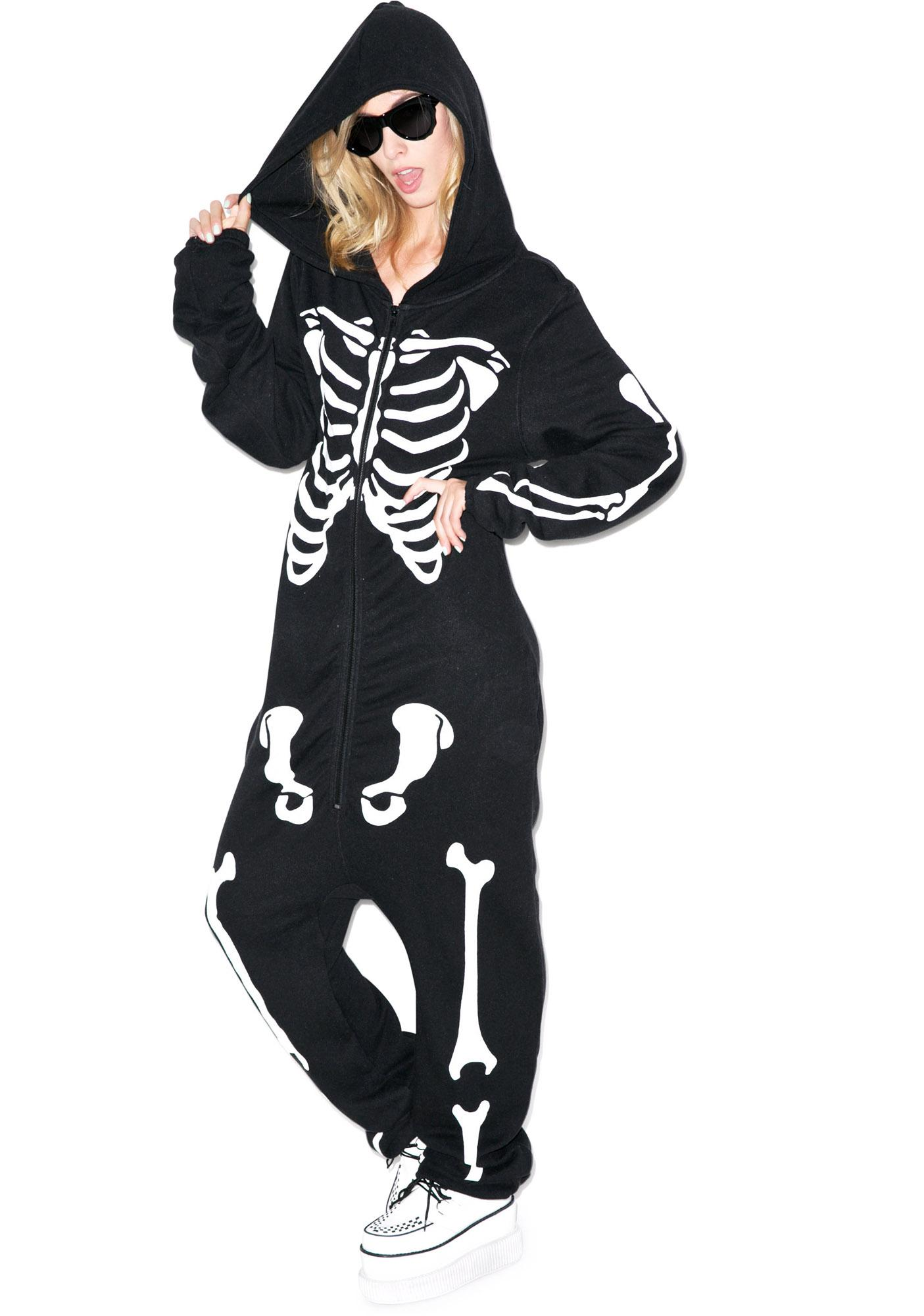 Wildfox Couture Bones Jumpsuit