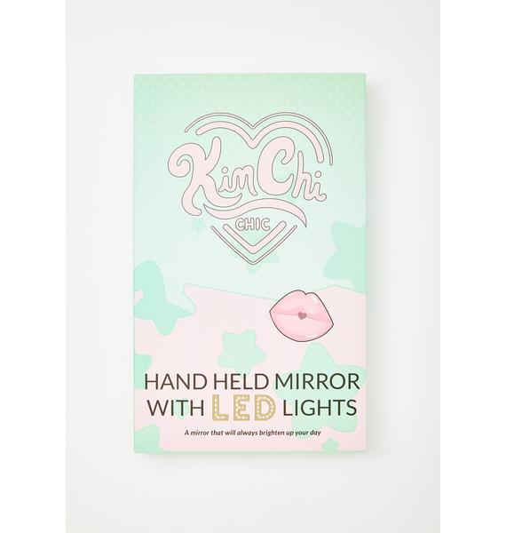 KimChi Chic Beauty Mint LED Light Hand Mirror