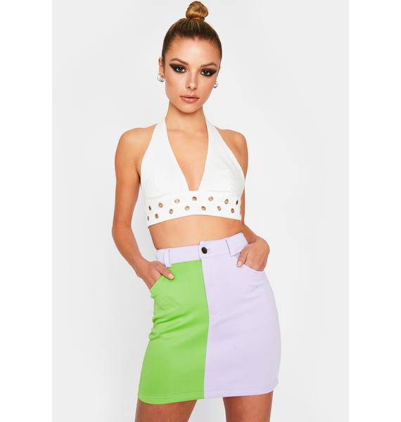 Breakup To Makeup Colorblock Skirt