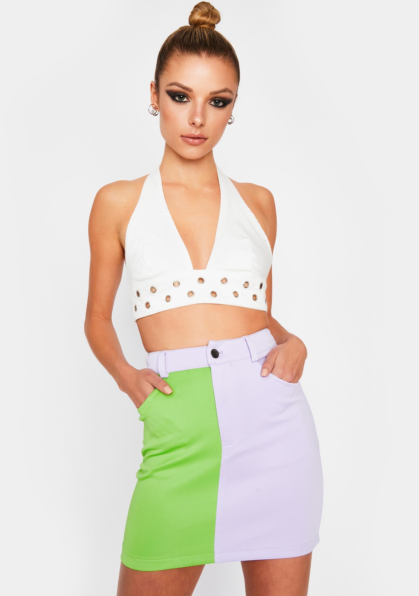 Breakup To Makeup Colorblock Skirt