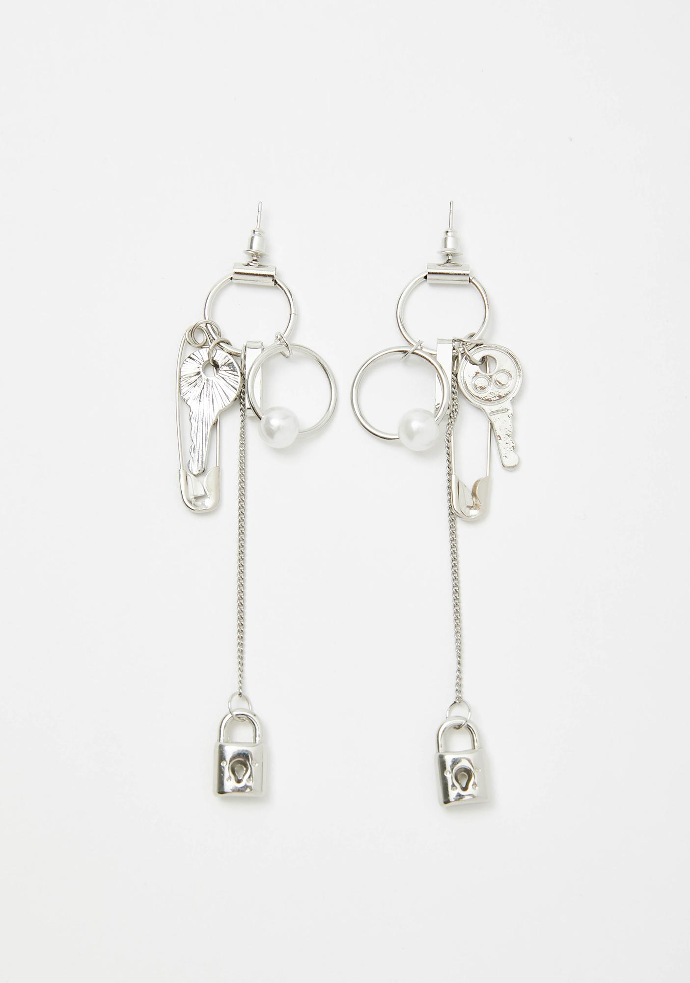 Secret Truth Lock Earrings