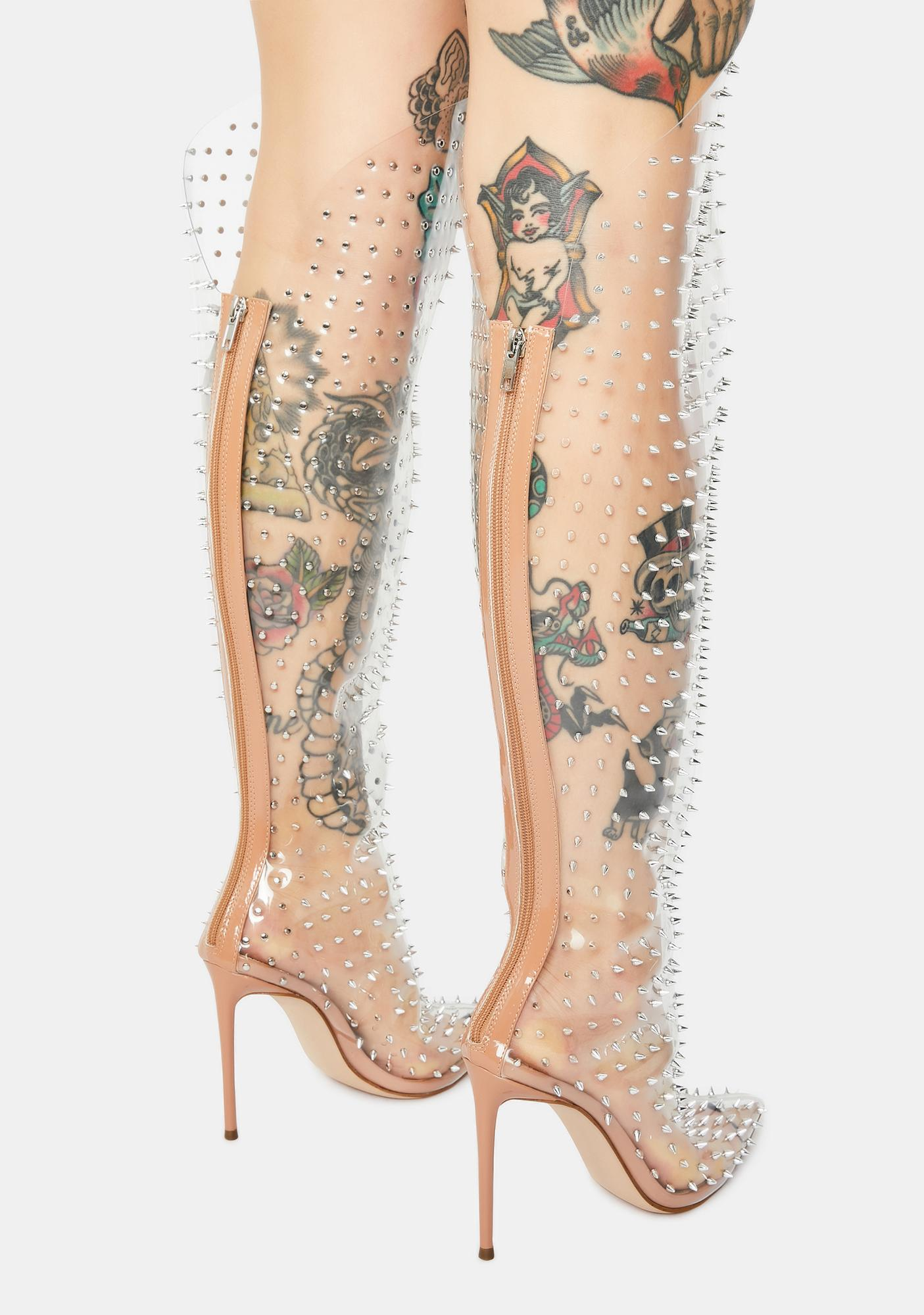 Steve Madden Vava Clear Over The Knee Boots