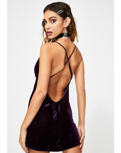 Wined N' Dined Velvet Nightie