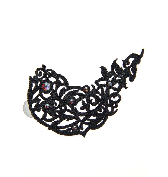 Black Lace Skin Jewelry Flirtatious Body Jewelry