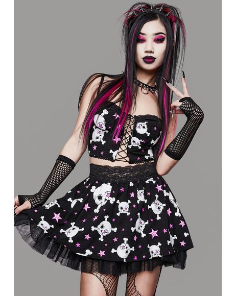 Start A Riot Lace Mini Skirt
