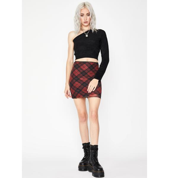 Ink Happily Confused One Shoulder Sweater