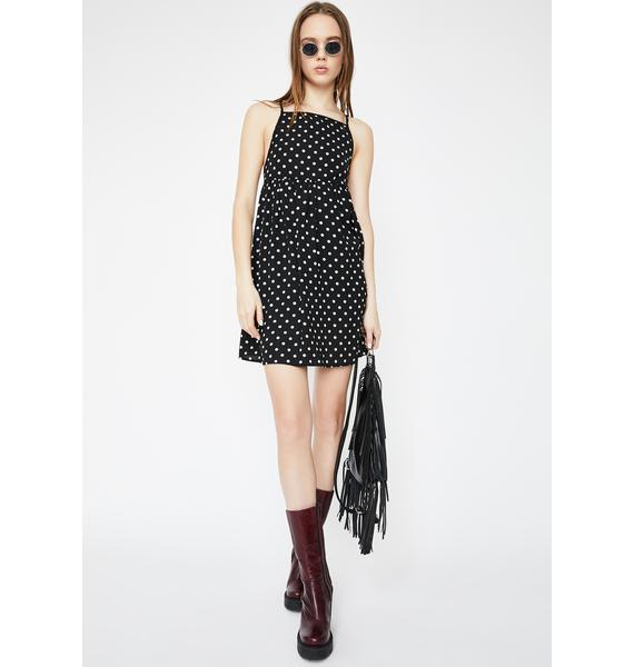 Daisy Street Polka Dot Cami Smock Dress