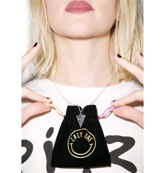 Lazy Oaf Pizza Necklace