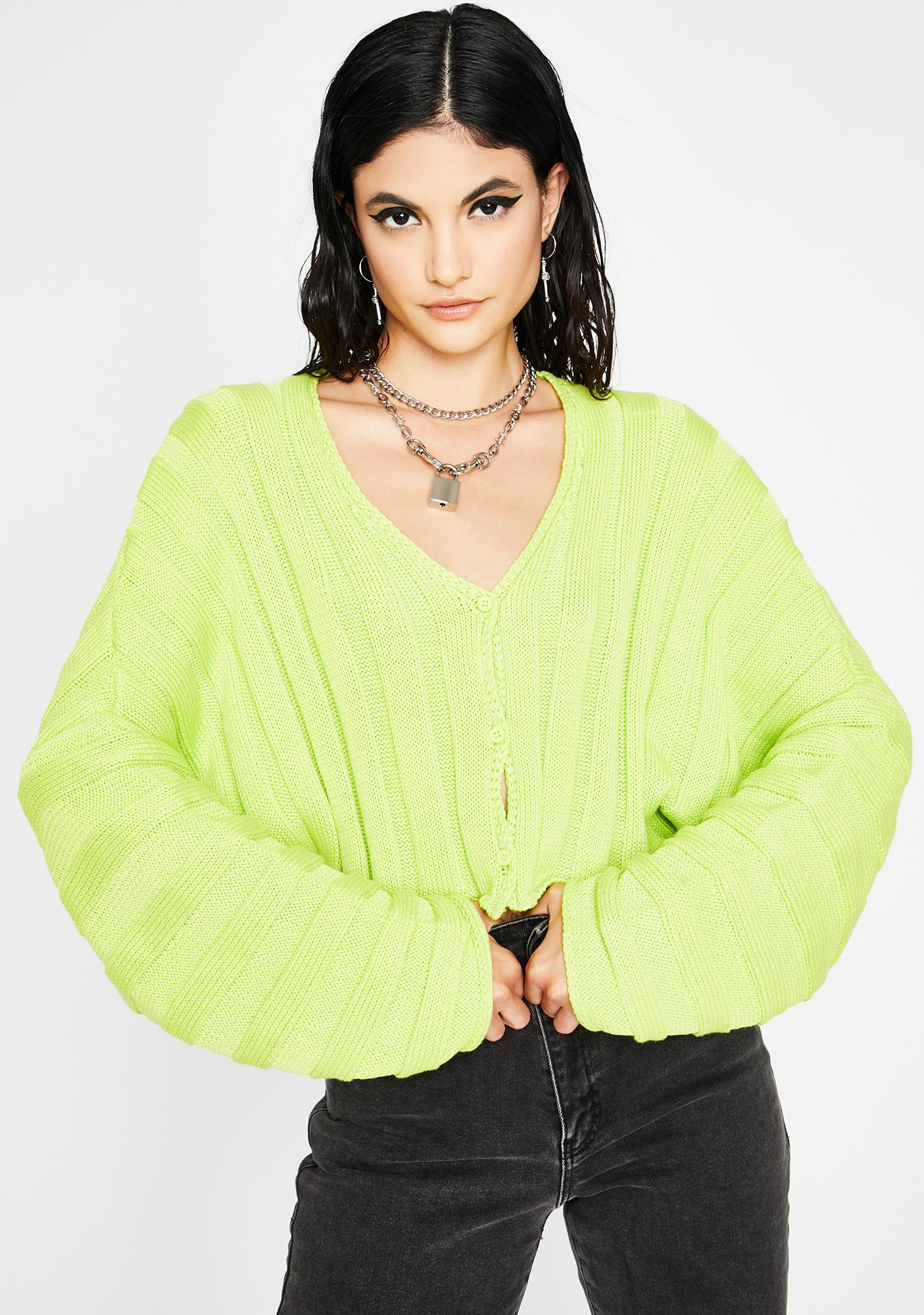 Lush Lazy Days Crop Cardigan