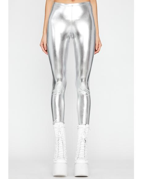 Cyber Sensation Metallic Leggings