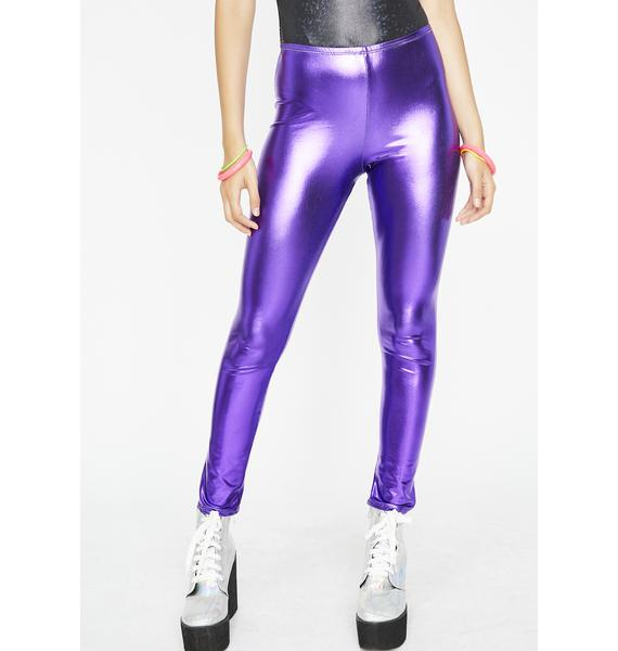 Dank Werk It Out Metallic Leggings