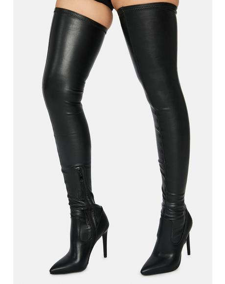 Night Mindful Thigh High Boots