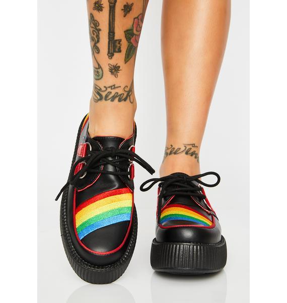 T.U.K. Black N' Rainbow Viva Mondo Creepers