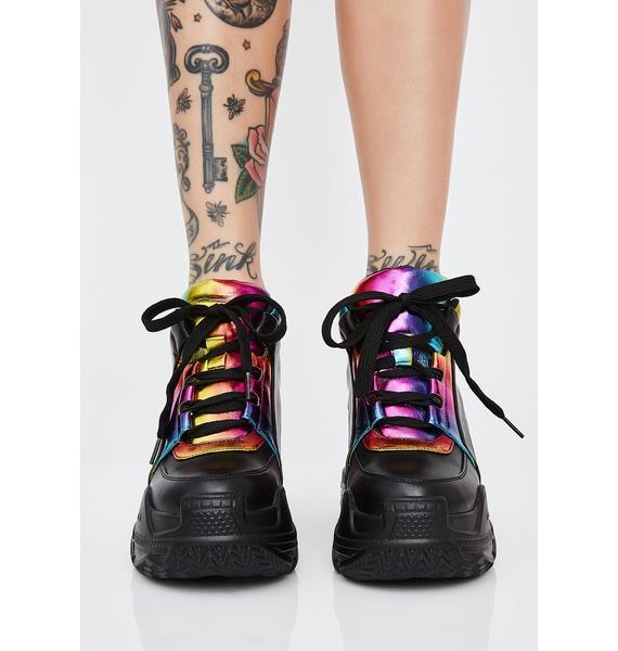 Club Exx Digital Riot Platform Sneakers