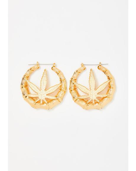 Boujee Bud Hoop Earrings