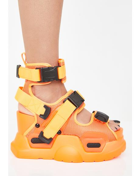 Juicy Daily Hustle Platform Sandals
