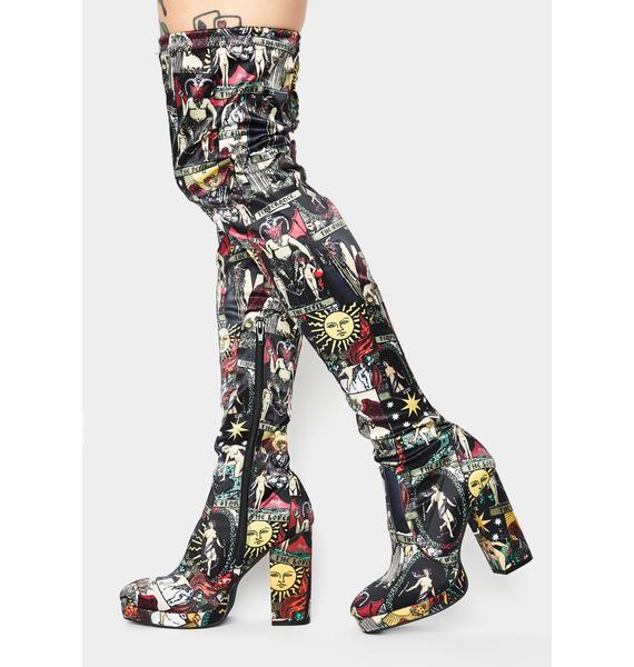 HOROSCOPEZ Divine Insight Thigh High Boots