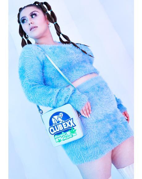 I'll Freeze U Out Fuzzy Knit Mini Skirt