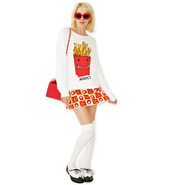 Wildfox Couture French Fry Addict Baggy Beach Jumper
