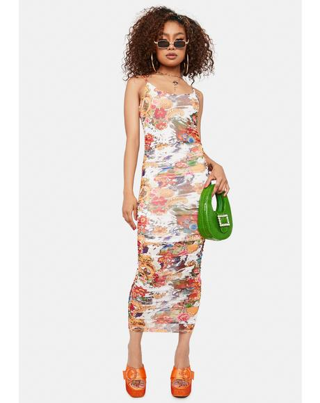 Carry On Floral Midi Dress