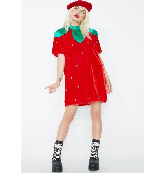 Dolls Kill Berry Delicious Strawberry Costume