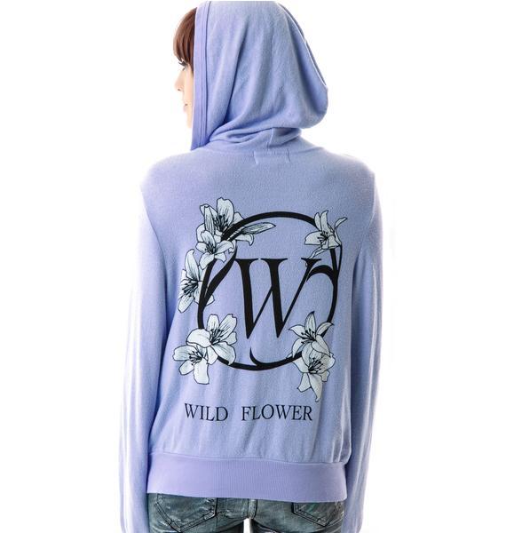 Wildfox Couture Wild Flower Girl Malibu Zip Up
